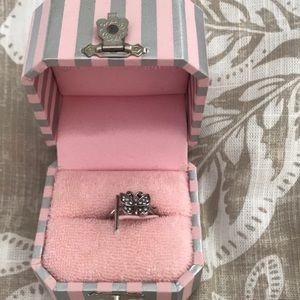 Juicy couture silver ring butterfly size 6